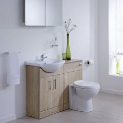 Milano Classic Oak 1040mm Vanity and WC Combination Unit with Pan and Cistern