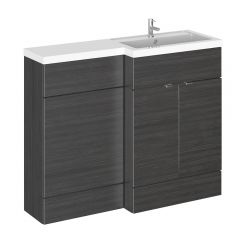 Hudson Reed 1100mm Hacienda Black WC Combination Unit Right Hand