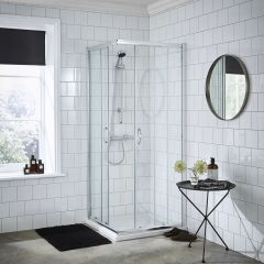 Premier 760mm Ella Corner Entry Shower Enclosure With Tray & Waste