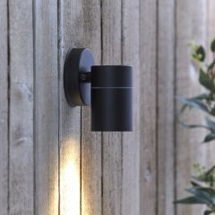 Biard Stainless Steel Wall Light - Black