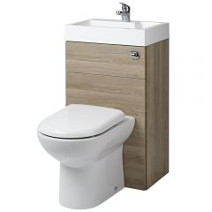 Milano Linton - Combination Toilet & Basin Unit - Oak