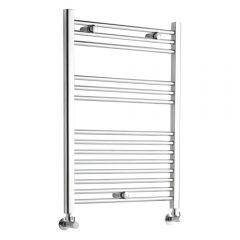 Kudox - Premium Chrome Flat Heated Bathroom Towel Radiator Rail - 800mm x 500mm