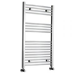 Kudox - Premium Chrome Curved Heated Towel Rail - 1000mm x 600mm