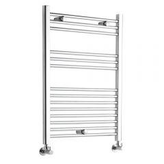 Kudox - Premium Chrome Flat Heated Bathroom Towel Radiator Rail - 800mm x 600mm
