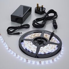 Biard 5 Metre 3528 White LED Bathroom Strip Light Kit Waterproof with Power Supply - 300 LEDs