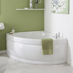 Milano - 1350 x 1350mm Corner Bath and Panel