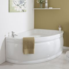 Milano - 1500 x 1020mm Corner Bath and Panel - Right Hand