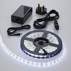 Biard 5 Metre 5050 White LED Bathroom Strip Light Kit Waterproof with Power Supply - 300 LEDs