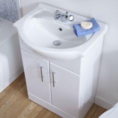 Premier 550mm x 300mm Vanity Unit Cabinet and Basin