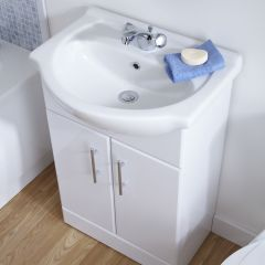 Premier 650mm x 300mm Vanity Unit Cabinet and Basin