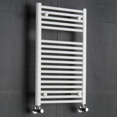 Sterling - Premium White Flat Heated Towel Rail - 800mm x 500mm