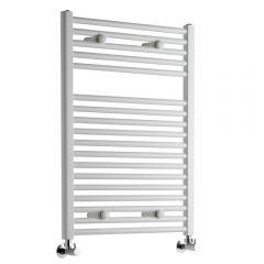 Sterling - Premium White Flat Heated Towel Rail - 800mm x 600mm