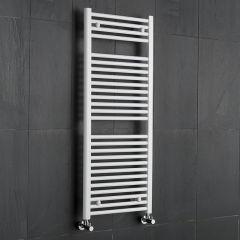 Sterling - Premium White Flat Heated Towel Rail - 1200mm x 500mm