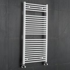 Sterling - Premium White Flat Heated Towel Rail - 1200mm x 600mm