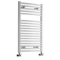 Sterling - Premium White Curved Heated Towel Rail - 800mm x 500mm