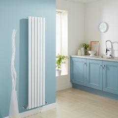 Milano Aruba - Luxury White Vertical Designer Radiator 1600mm x 354mm