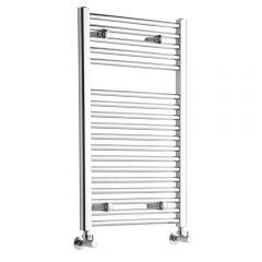 Sterling - Premium Chrome Flat Heated Towel Rail - Radiator 800mm x 500mm