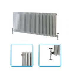 Milano Windsor - Traditional 33 x 2 Column Radiator Cast Iron Style White 600mm x 1508mm