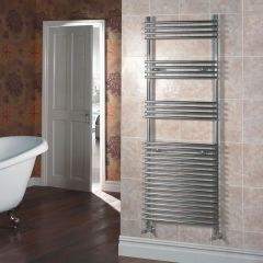 Kudox - Flat Chrome Bar on Bar Towel Rail 1650mm x 600mm