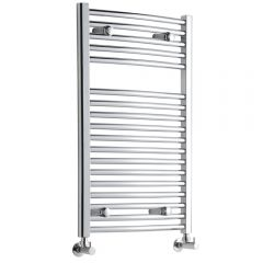 Sterling - Premium Chrome Curved Heated Towel Rail - 800mm x 500mm