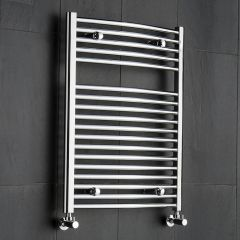Sterling - Premium Chrome Curved Heated Towel Rail - 800mm x 600mm