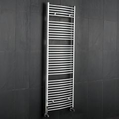 Sterling - Chrome Curved Heated Towel Rail - 1800mm x 600mm