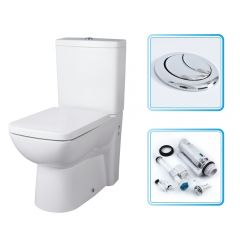 Milano Longton Compact Toilet, Cistern & Soft Close Seat