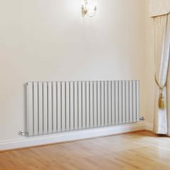 Milano Aruba - White Horizontal Designer Radiator - 635mm x 1647mm (Double Panel)