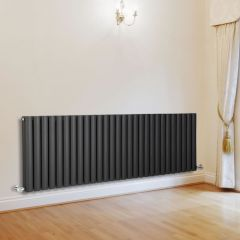 Milano Aruba - Anthracite Horizontal Designer Radiator - 635mm x 1647mm (Double Panel)