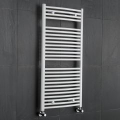 Sterling - Premium White Curved Heated Towel Rail - 1200mm x 600mm