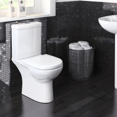 Compact Toilet Pan, Cistern & Soft Close Seat