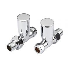 Milano Modern Chrome Straight Radiator Valves