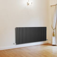 Milano Aruba - Anthracite Horizontal Designer Radiator - 635mm x 1411mm (Double Panel)