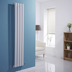 Milano Viti - White Diamond Panel Vertical Designer Radiator - 1600mm x 280mm