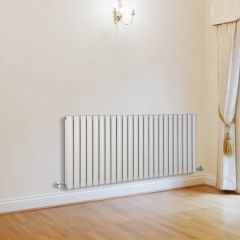 Milano Aruba - White Horizontal Designer Radiator - 635mm x 1411mm (Double Panel)