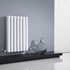 Milano Aruba - White Horizontal Designer Radiator - 635mm x 415mm (Double Panel)