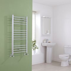 Milano Eco - Flat Chrome Heated Towel Rail - 1000mm x 500mm