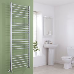 Milano Eco - Flat Chrome Heated Towel Rail 1600mm x 600mm