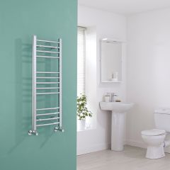 Milano Eco - Chrome Curved Heated Towel Rail - 1000mm x 400mm