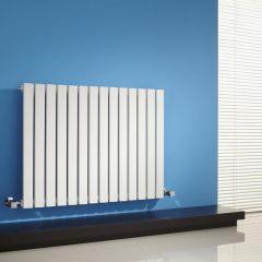 Milano Capri - White Flat Panel Horizontal Designer Radiator - 635mm x 834mm
