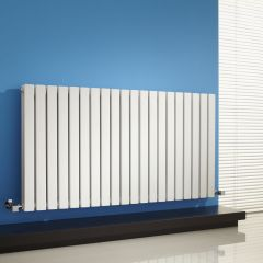 Milano Capri - White Horizontal Flat Panel Designer Radiator - 635mm x 1180mm (Double Panel)