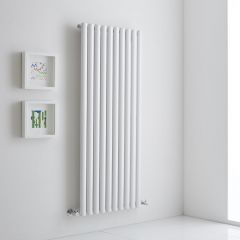 Milano Aruba Aiko - White Vertical Designer Radiator 1400mm x 590mm (Single)
