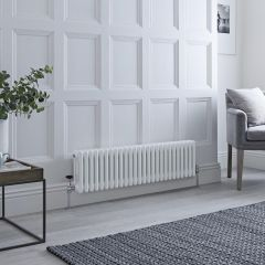 Milano Windsor - Traditional White Vertical Column Radiator - 300mm x 1193mm (Triple Column)
