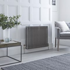 Milano Windsor - Traditional Lacqured Raw Metal Horizontal Column Radiator - 600mm x 789mm (Triple Column)
