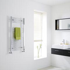 Milano - Flat Chrome Heated Towel Rail - 1000mm x 500mm