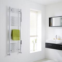 Milano - Flat Chrome Heated Towel Rail - 1500mm x 500mm
