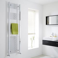 Milano - Chrome Flat Heated Towel Rail - 1800mm x 500mm