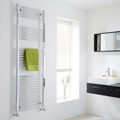 Milano Flat Chrome Heated Towel Rail 1800mm x 600mm