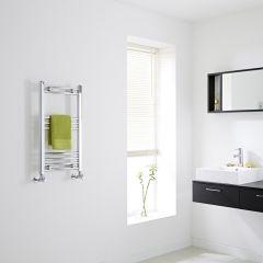 Milano - Chrome Flat Heated Towel Rail - 700mm x 400mm