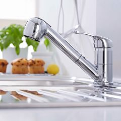 Ultra Kitchen Mono Sink Mixer Tap with Pull Out Rinser